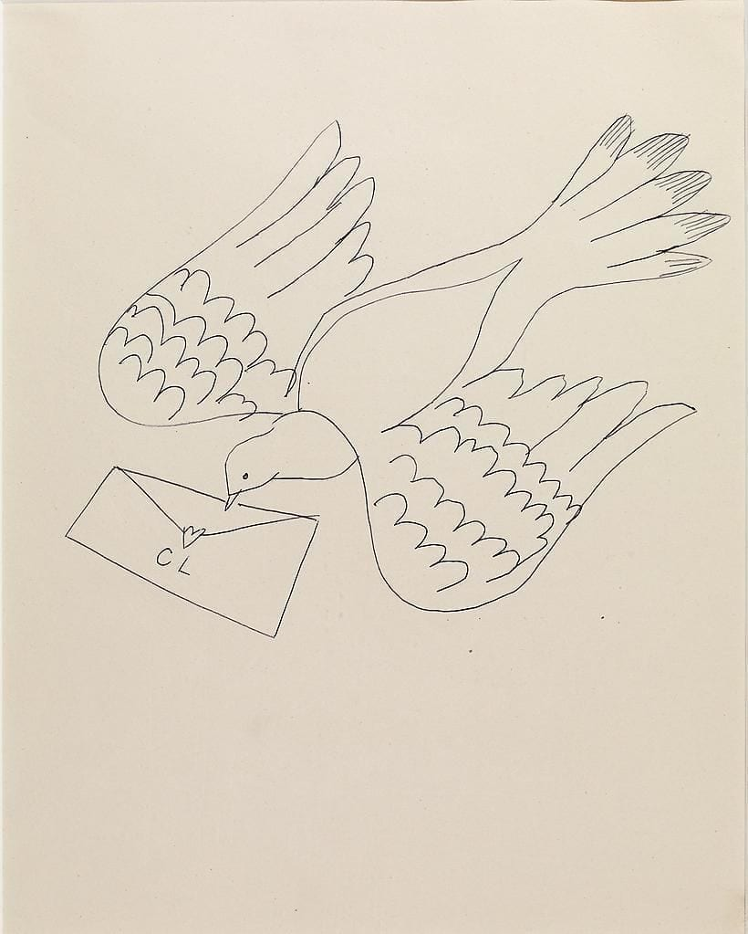Bird with Letter, ca. 1955