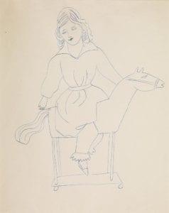 Female Costume Figure, ca. 1955-57