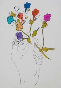Hand and Flowers, circa 1957