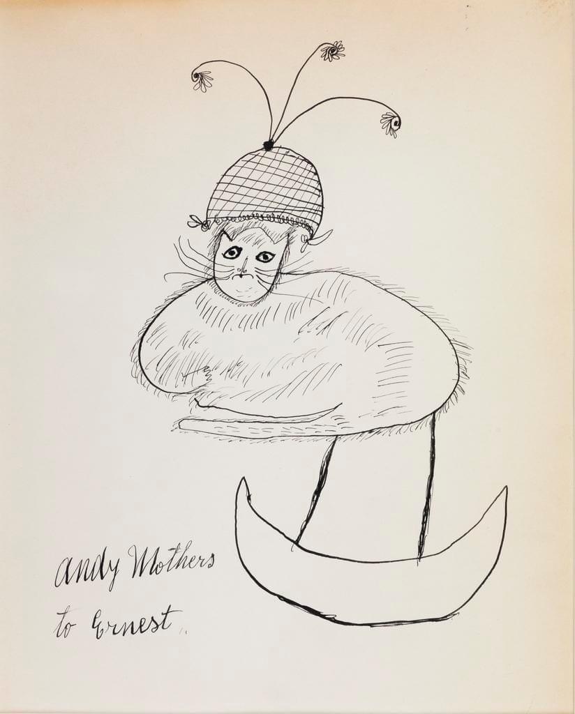 Jullia Warhola - Untitled (Rocking Kitty), ca. 1954