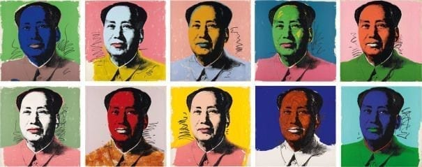Andy Warhol, Mao, 1972, complete portfolio of twn screenprints