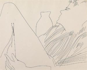 Reclining Figure (In Striped Shirt), circa 1955