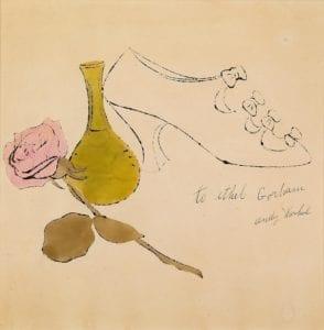 Shoe, Green Vase, and Rose, circa 1954
