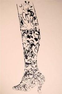Shoe and Leg, 1956