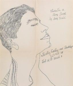 Studies for a Boy Book (Bodley Gallery Announcement), circa 1956