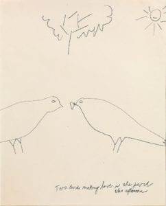 Two Birds Making Love in the Park This Afternoon, ca. 1956