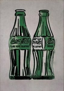 Andy Warhol, Two Coke Bottles, 1962, Silkscreen on canvas