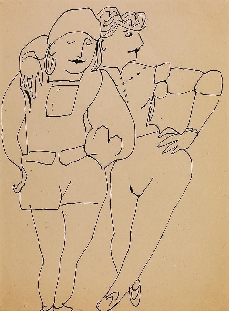 Two Standing Figures, ca. 1955