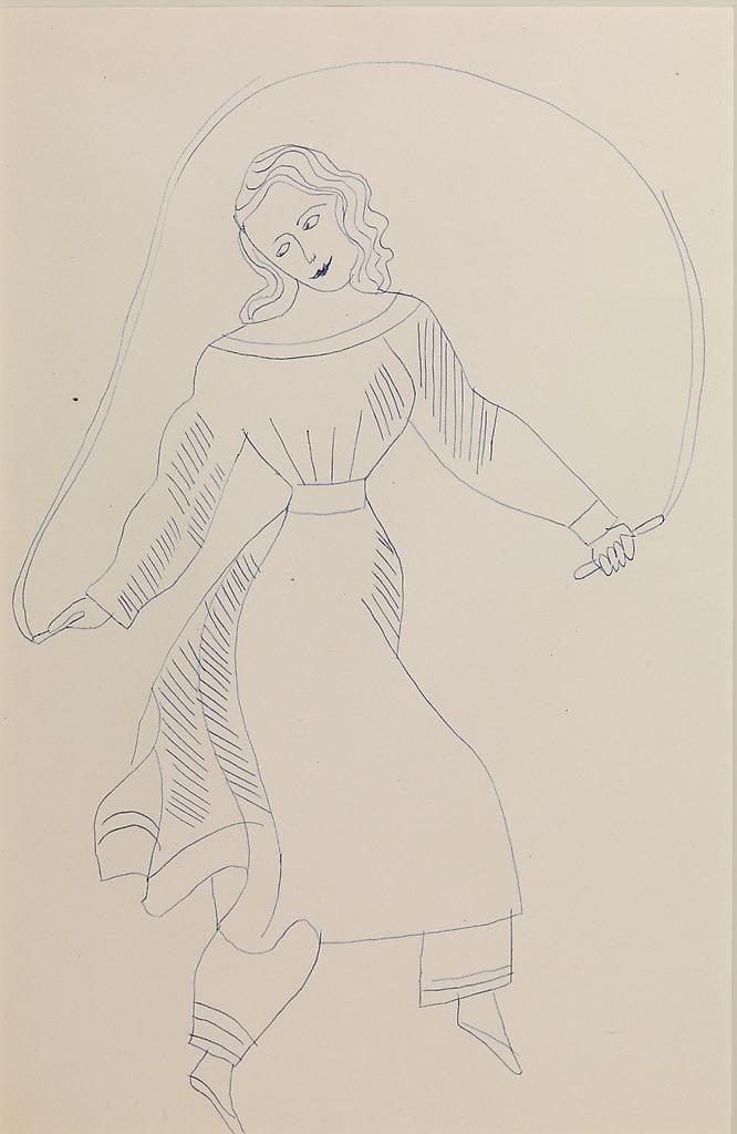 Woman Jumping Rope, ca. 1955