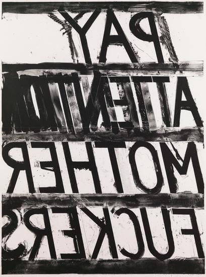 Bruce Nauman, Pay Attention, 1973, Lithograph