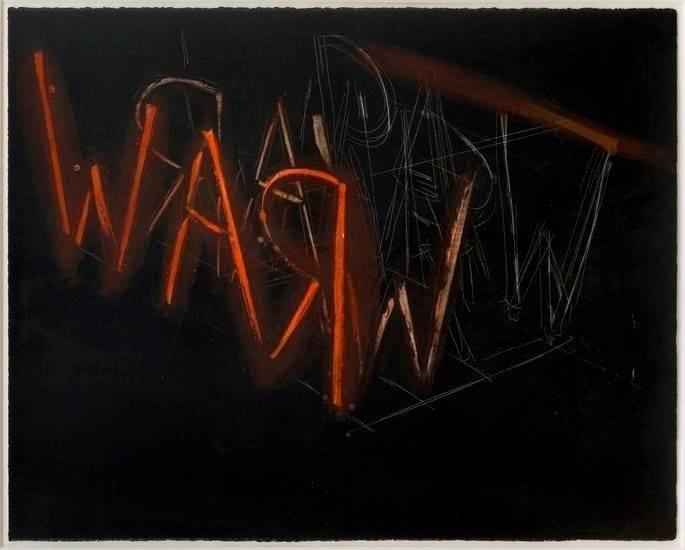 Bruce Nauman, Raw War, 1971, Lithograph