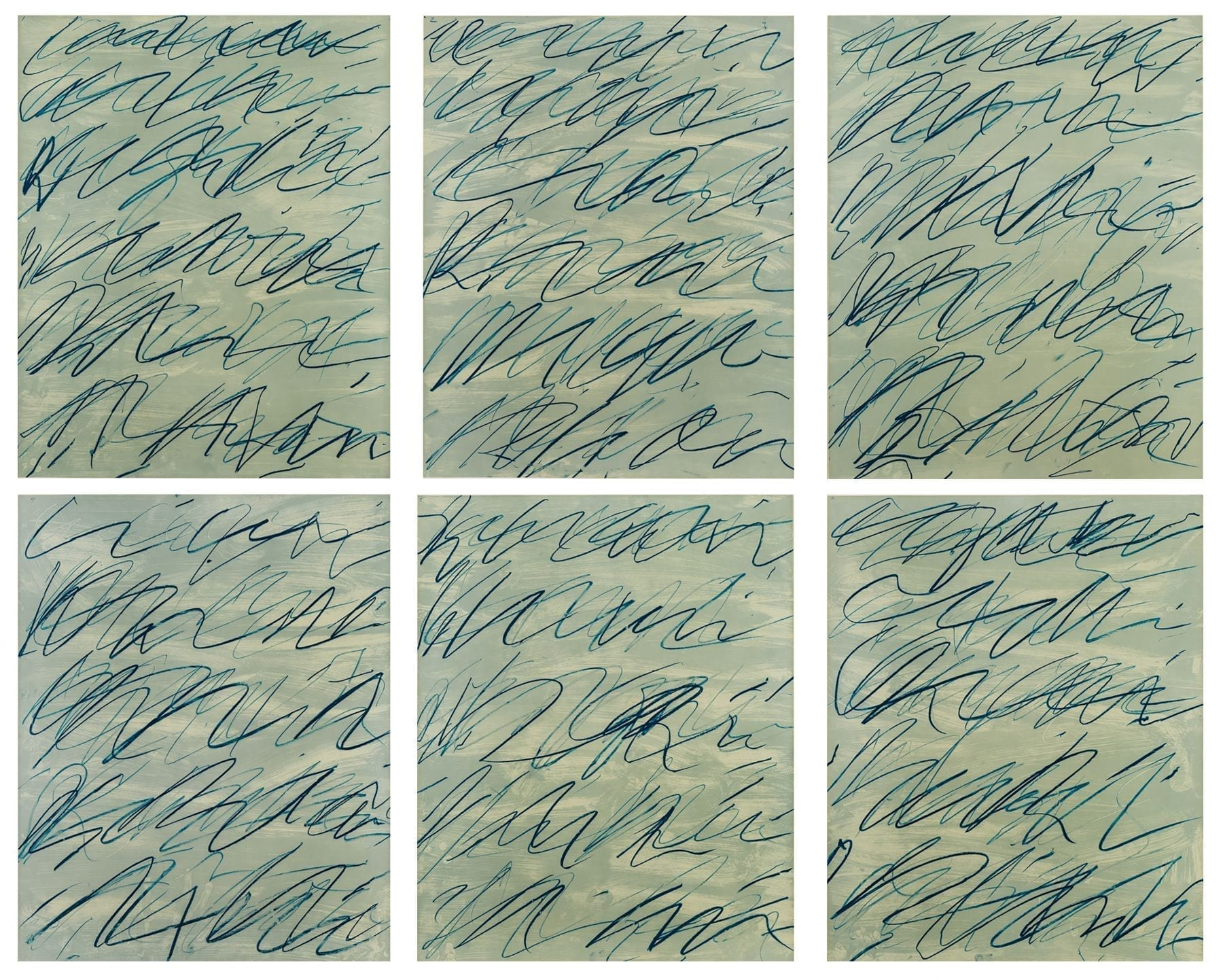 Cy Twombly, Roman Notes, 1970, Offset lithographs
