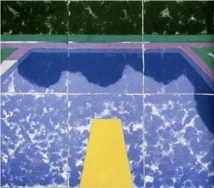 David Hockney, Swimming Pool with Reflection (Paper Pool 5), 1978, colored and pressed paper pulp