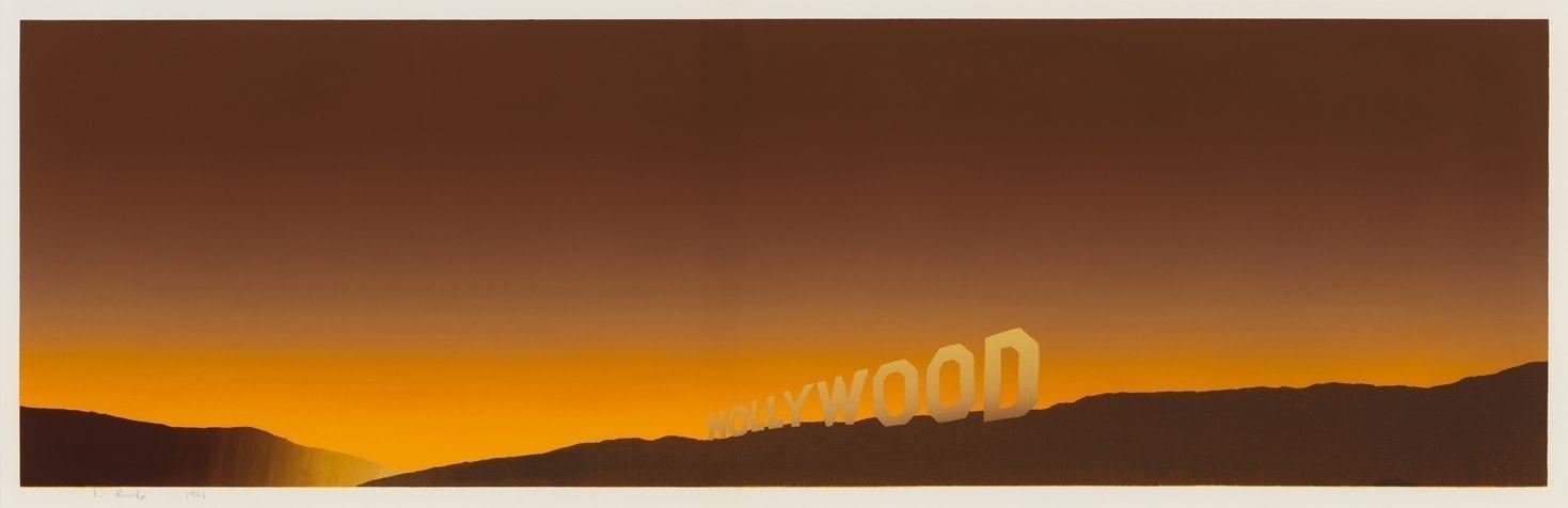 Edward Ruscha, Hollywood, 1968, Screenprint