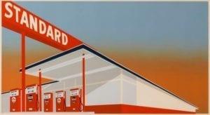Edward Ruscha, Standard Station, 1966, Screenprint