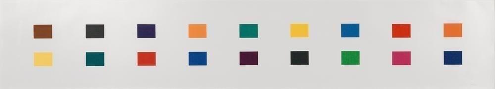 Ellsworth Kelly, 18 Colors, Cincinatti, 1979-82, lithograph