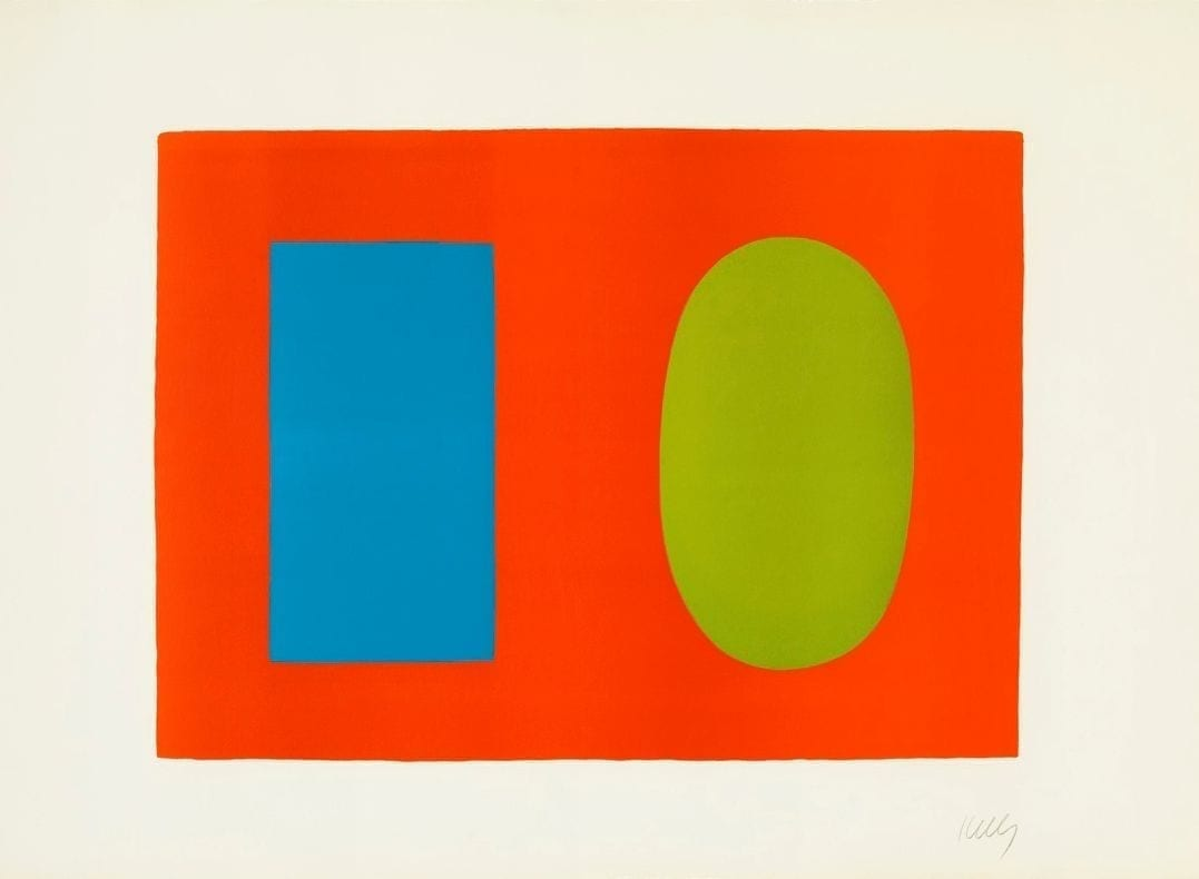 Blue and Green over Orange, 1964-65