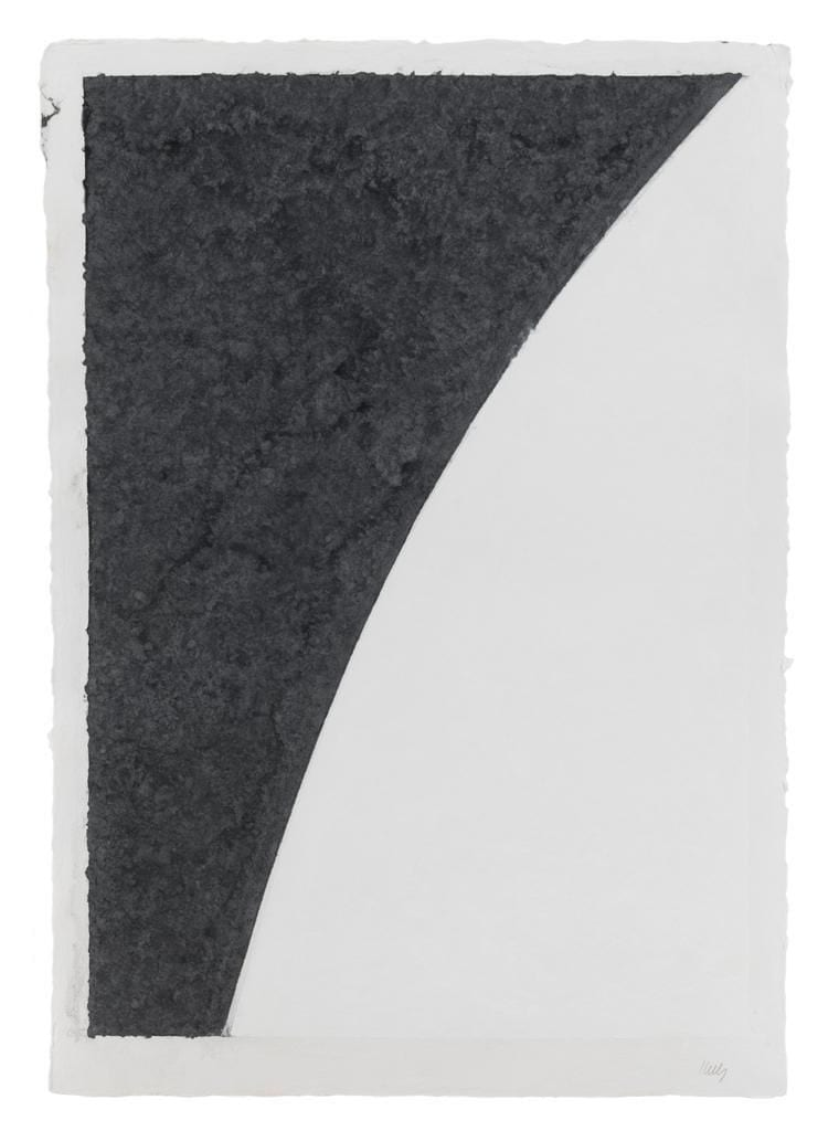 Colored Paper Image I (White Curve with Black I), 1976