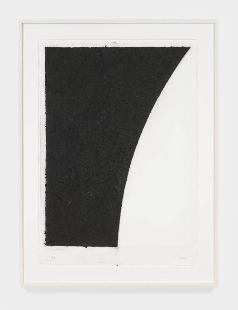 Colored Paper Image VI (White with Black Curve II), 1976