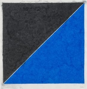 Colored Paper Image XV (Dark Gray with Blue), 1976