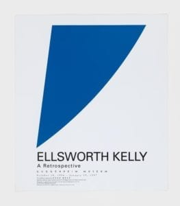 Ellsworth Kelly, A Retrospective (Blue Curve), 1996