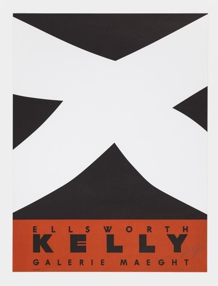 Ellsworth Kelly, Galerie Maeght (Black Over Red), 1958