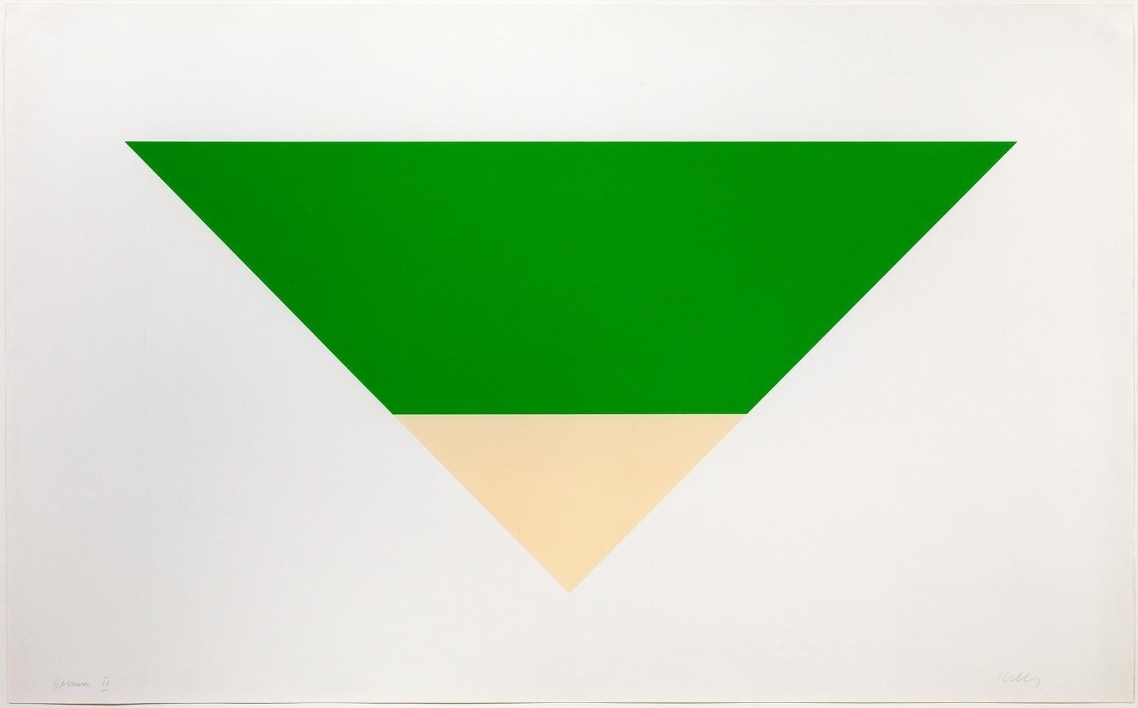 Green/White, 1970-72 Medium: Lithograph