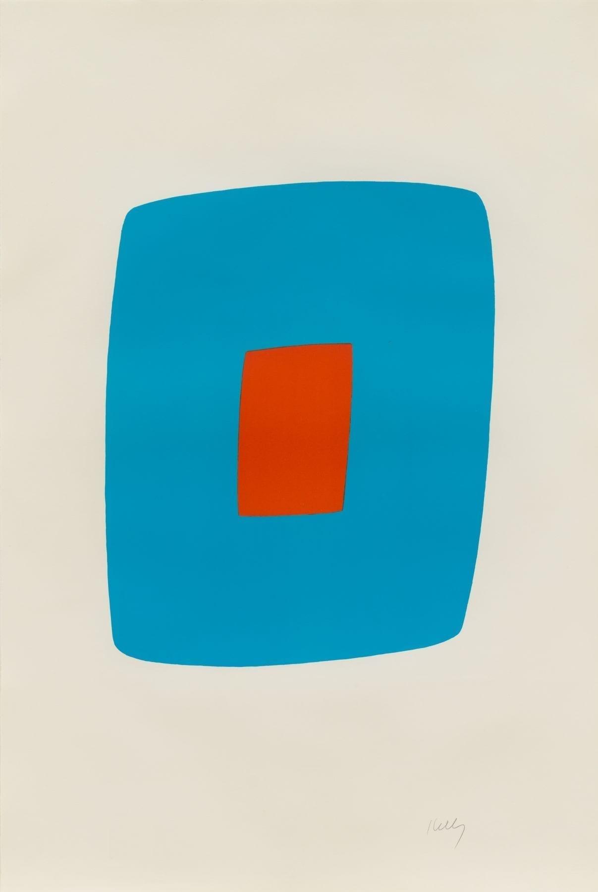 Light Blue with Orange, 1964-65