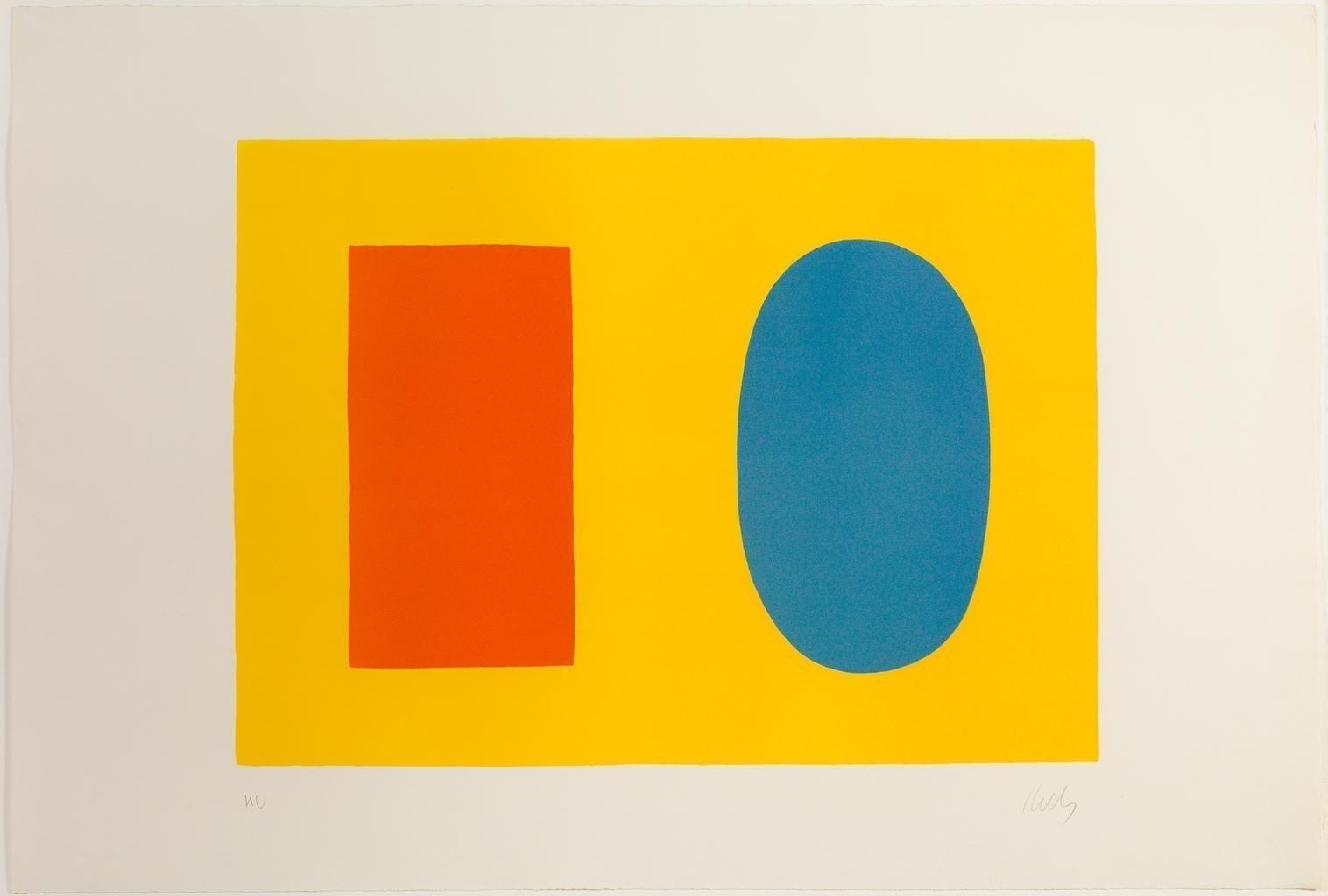 Orange and Blue over Yellow, 1964-65