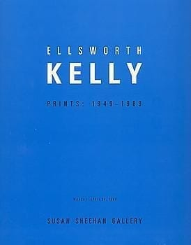 Ellsworth Kelly: Prints 1949 - 1989 Folded brochure with 5 color and 2 B & W illustrations