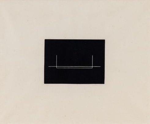 Untitled, 1975 Medium: Linocut in black on Japanese paper