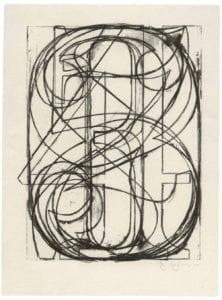Jasper Johns, 0 through 9, 1960, lithograph