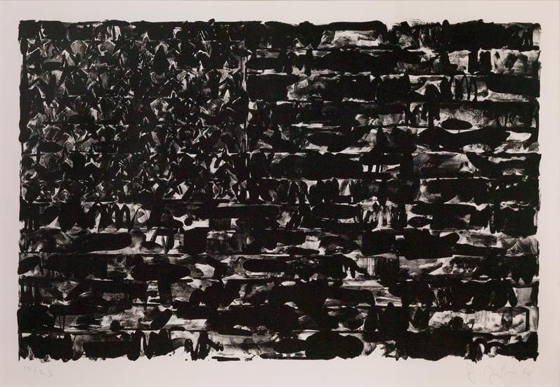 Jasper Johns, Flag I, 1960, Lithograph