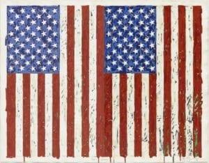Jasper Johns, Flags I, 1973, screenprint