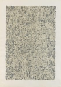 Jasper Johns, Gray Alphabets, 1968, Lithograph
