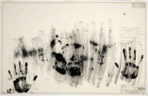 Jasper Johns, Skin with O'Hara Poem, 1965, Lithograph