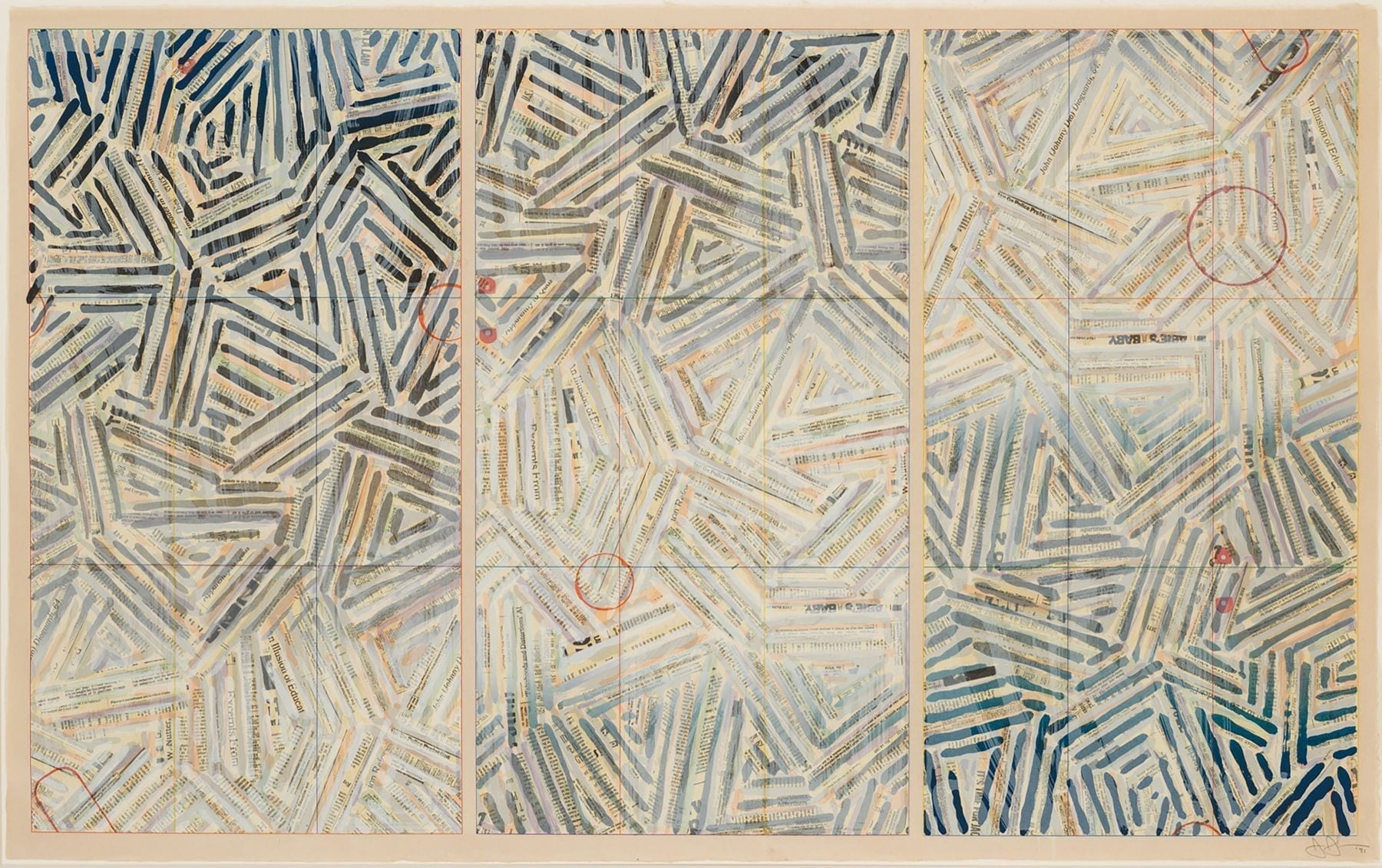 Jasper Johns, Usuyuki, 1981, Screenprint