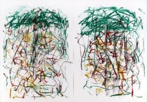 Joan Mitchell, Sunflowers I, 1992, lithograph