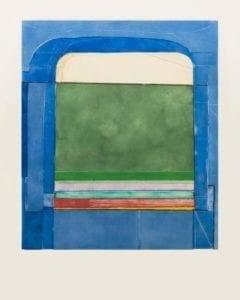 Richard Diebenkorn, Blue Surround, 1982, Etching with drypoint and aquatint