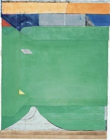 Richard Diebenkorn, Green, 1986, Aquatint, etching, and drypoint