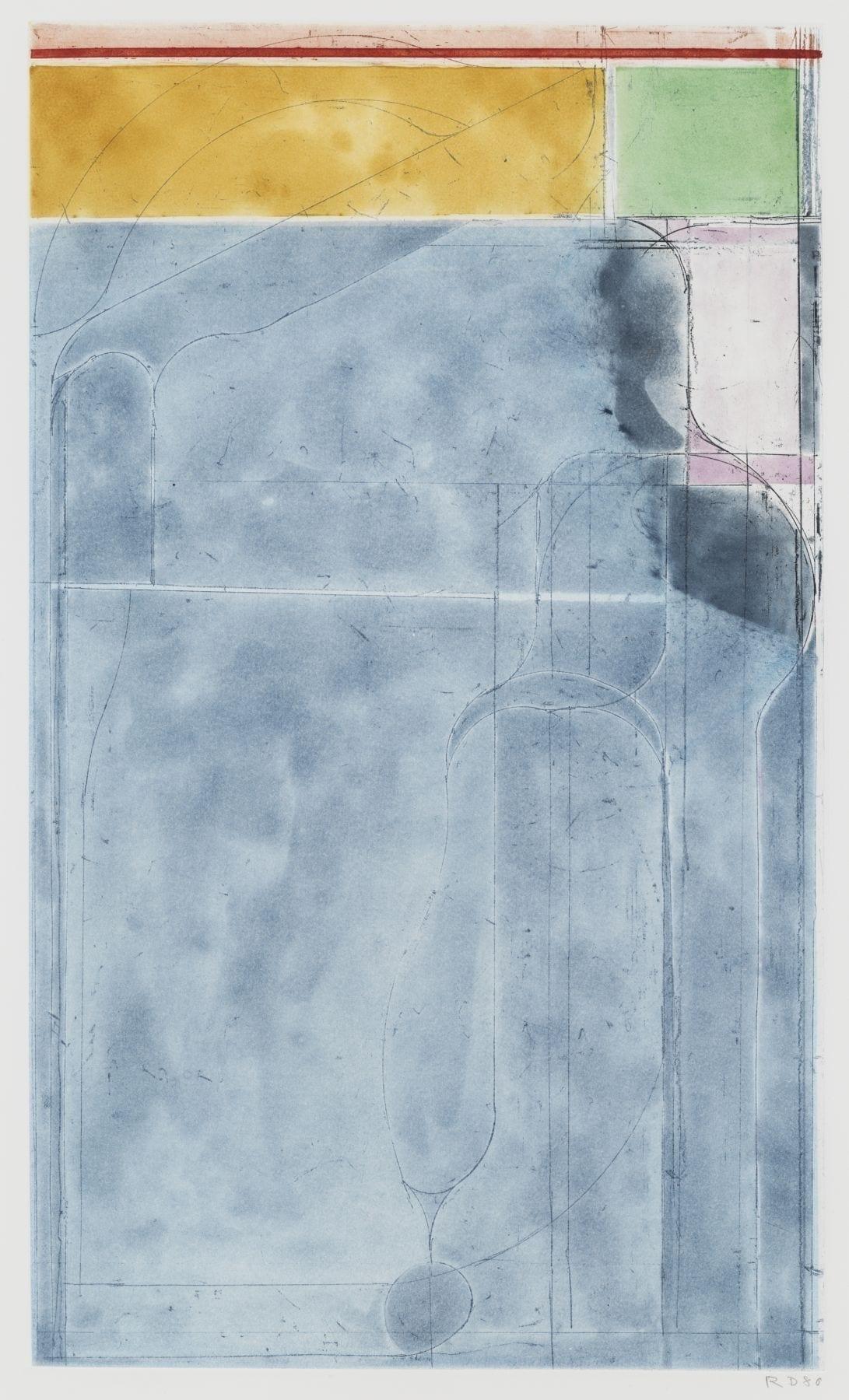 Richard Diebenkorn, Large Light Blue, 1980, Spibite aquatint with softground