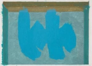 Robert Motherwell,, Blue Elegy,1987, Lithograph and etchingin color
