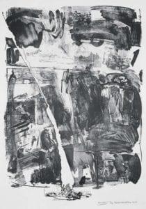 Robert Rauschenberg, Accident, 1963, Lithograph