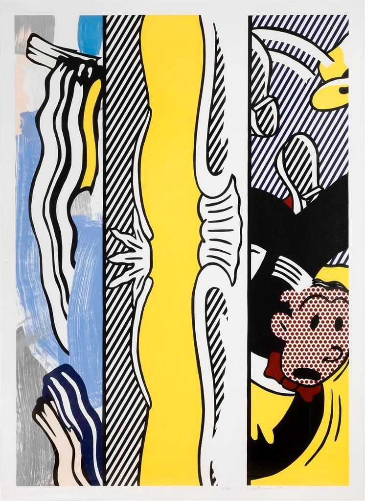 Roy Lichtenstein, Two Paintings: Dagwood, 1984, Screenprint, lithograph, and woodcut, 54 x 39 inches