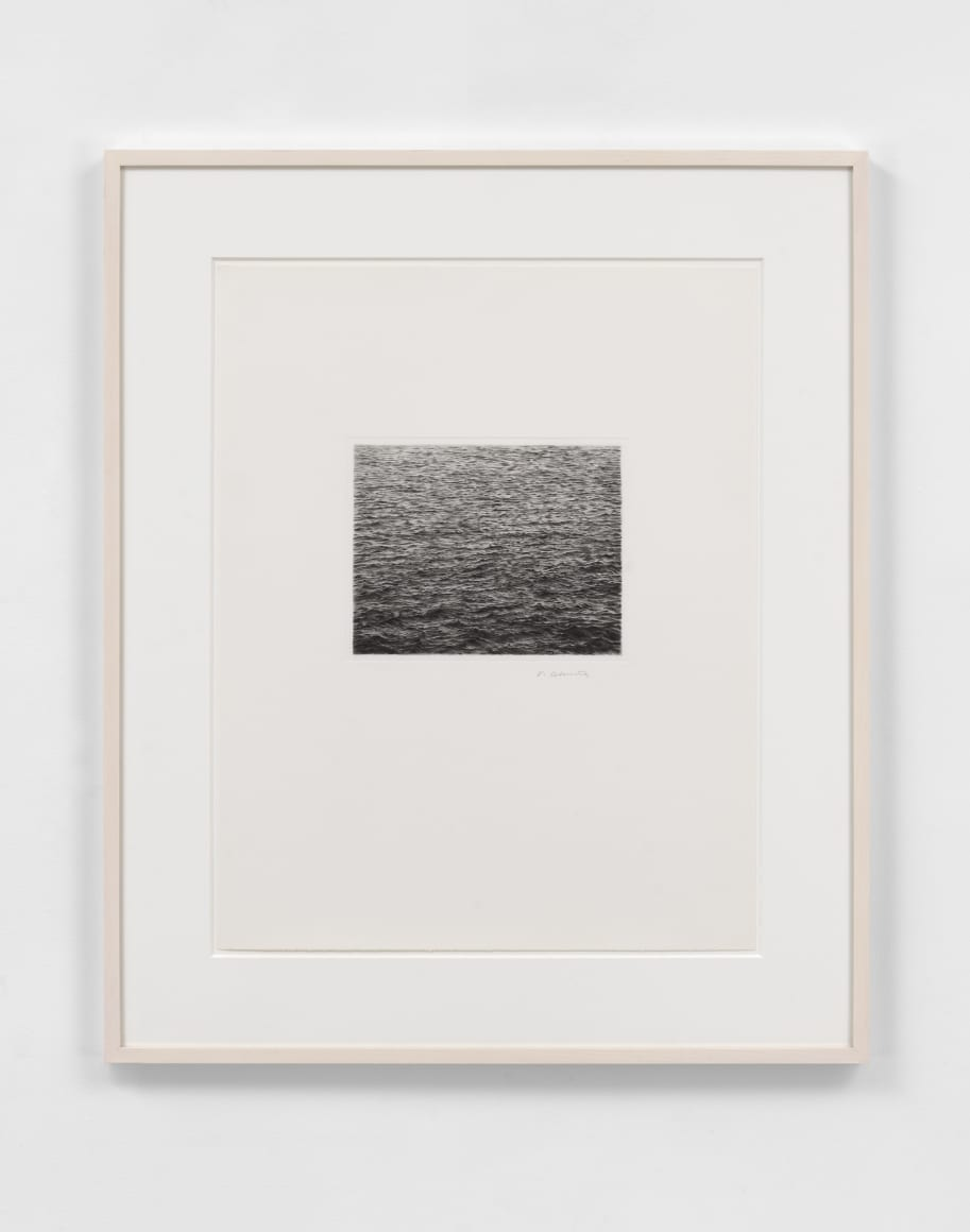 Drypoint Ocean Surface (Second State), 1985