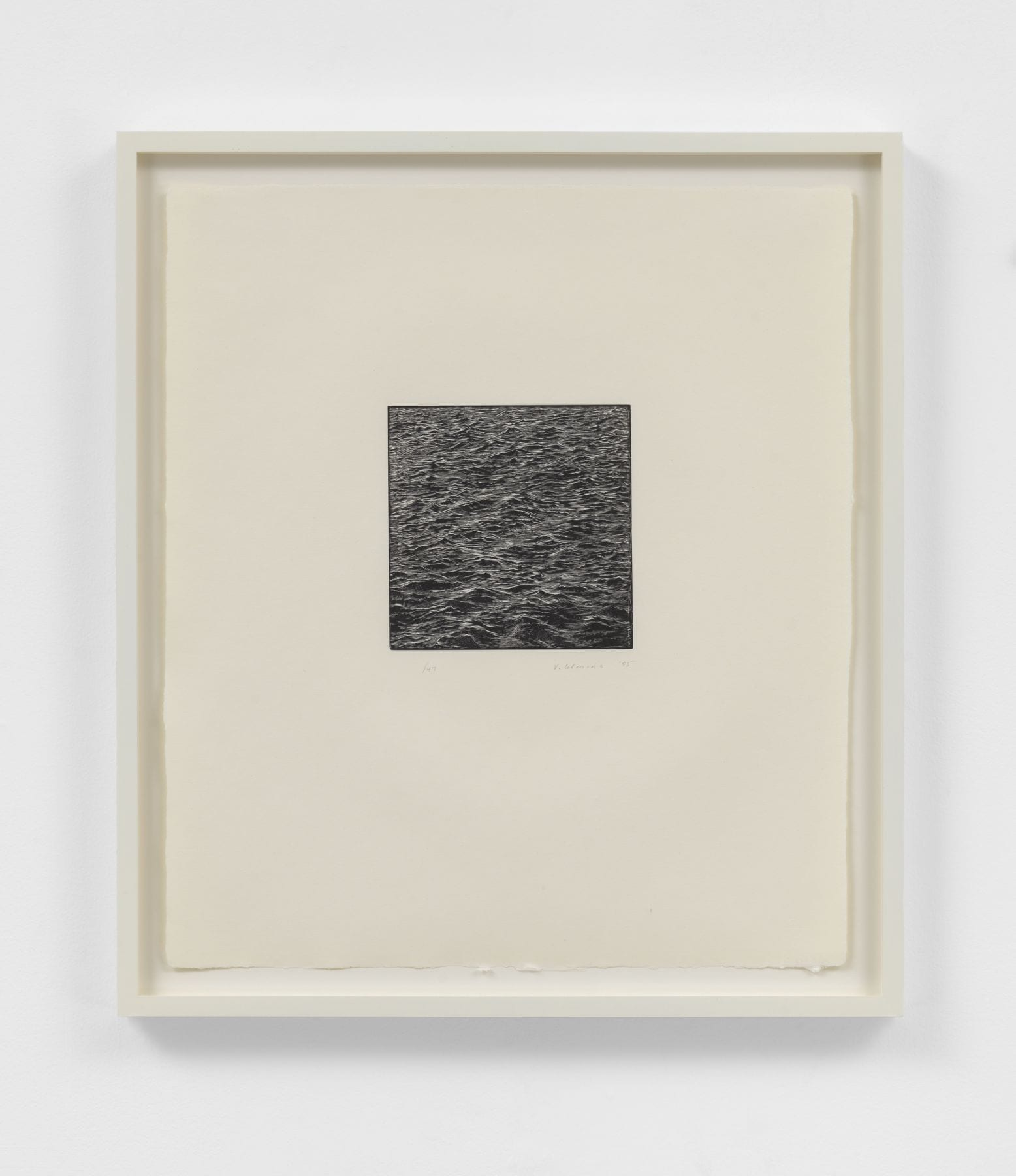 Untitled (Ocean Woodcut), 1995