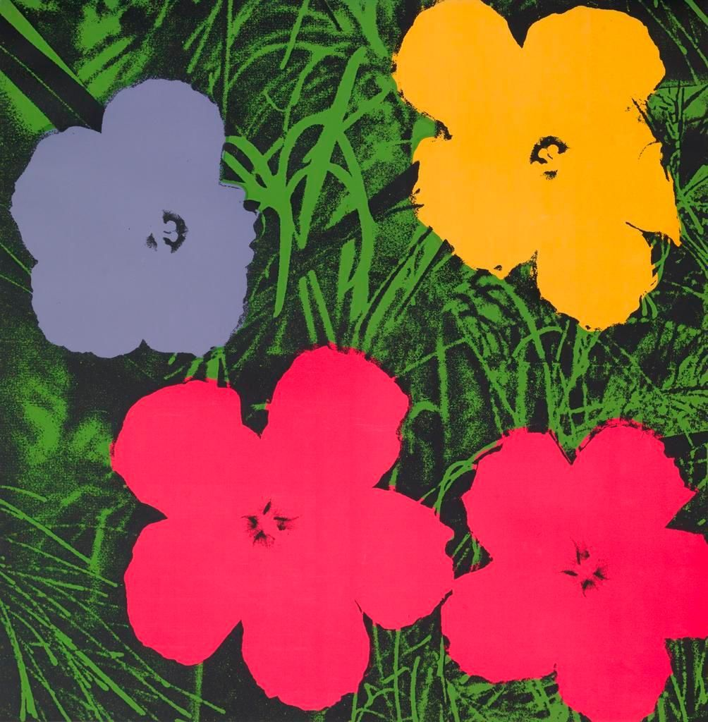 Andy Warhol, Flowers, at IFPDA 2014 by Susan Sheehan Gallery